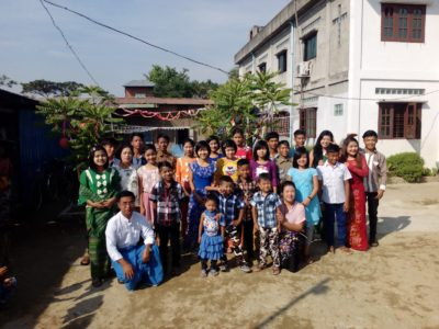 ADVENT CHRISTIAN CONFERENCE OF MYANMAR leaders care for orphans and underprivileged children.