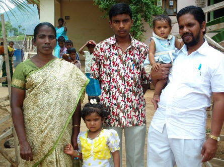 (L-R) Vasantha, Shanti, son David, Stella, Kirubakaran