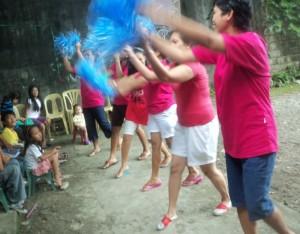Cheering!