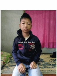 MYANMAR – Please pray for JOSIAH LAL TAN PUI